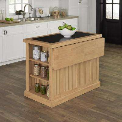 Nantucket Maple Kitchen Island With Storage