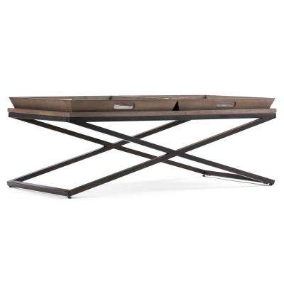Damien Distressed Natural Elm Coffee Table