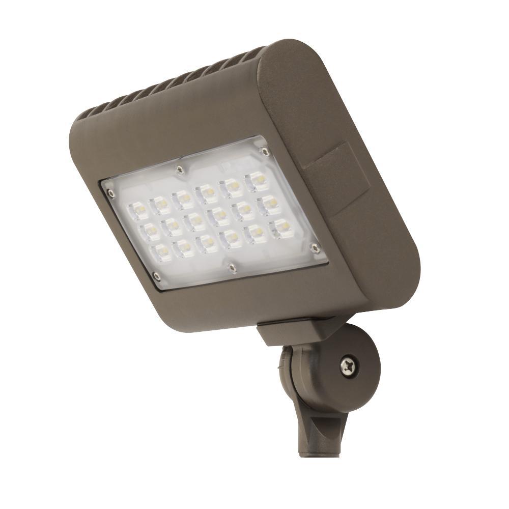 30-Watt Bronze Outdoor Integrated LED Daylight (5000K) Commercial Grade Flood Light
