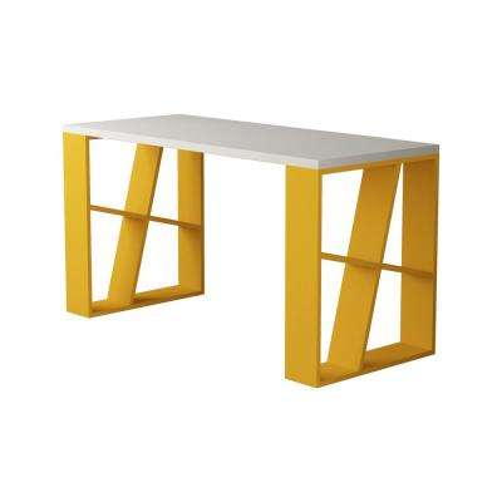 Brian White and Mustard Modern Desk