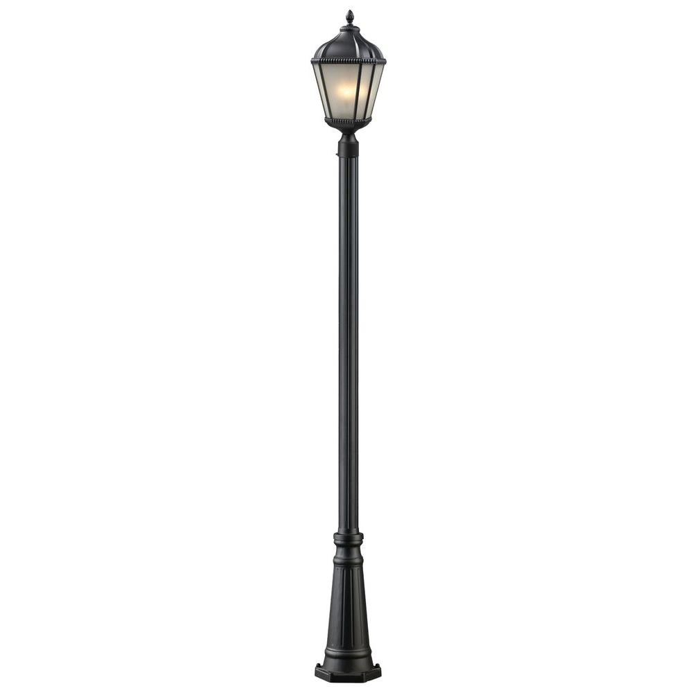 Lawrence 2 Light Outdoor Black Incandescent Post Light CLI