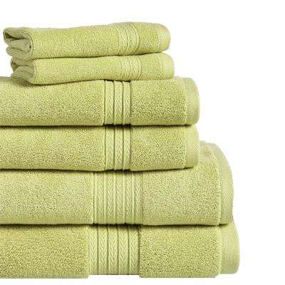 Summit 6-Piece 100% Cotton Bath Towel Set in Moss