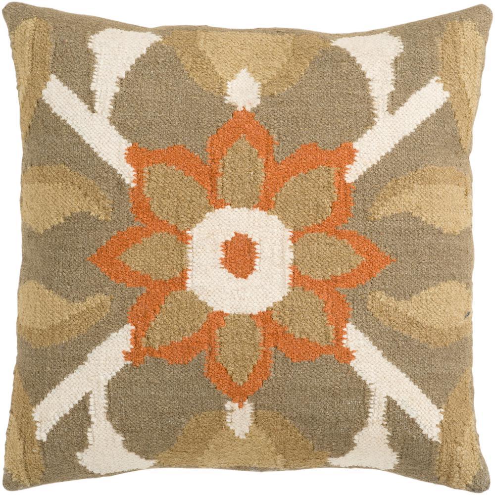 Artistic Weavers Aisai Poly Euro Pillow, Browns/Tans