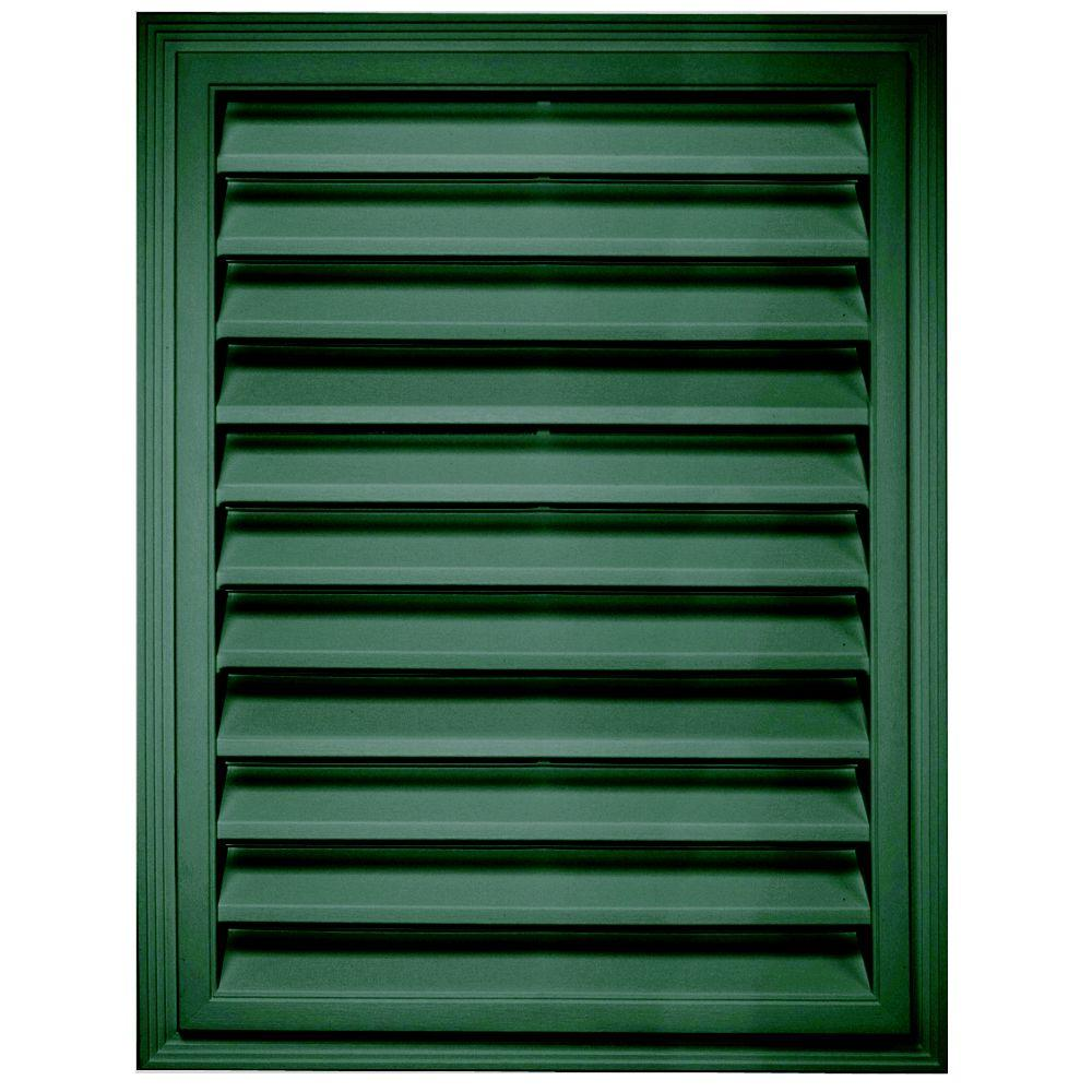 Builders edge 18 in x 24 in rectangle gable vent in for Gable decorations home depot