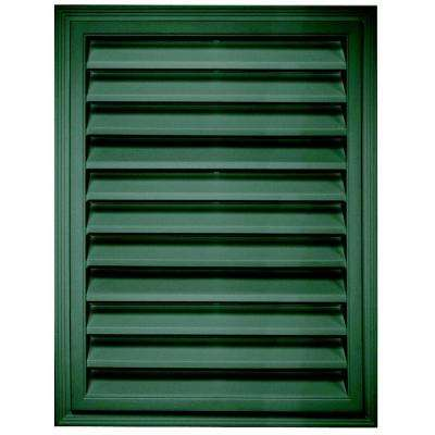 18 in. x 24 in. Rectangle Gable Vent in Forest Green