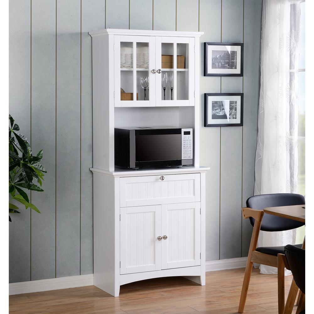 home and office storage. OS Home And Office White Buffet Hutch With Framed Glass Doors Drawer Storage L