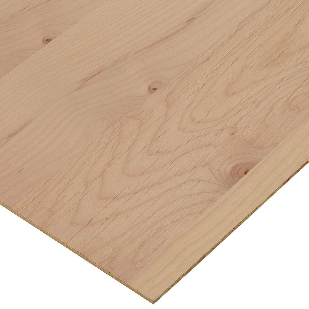 Flooring Plywood Home Depot: Columbia Forest Products 1/4 In. X 4 Ft. X 4 Ft. PureBond