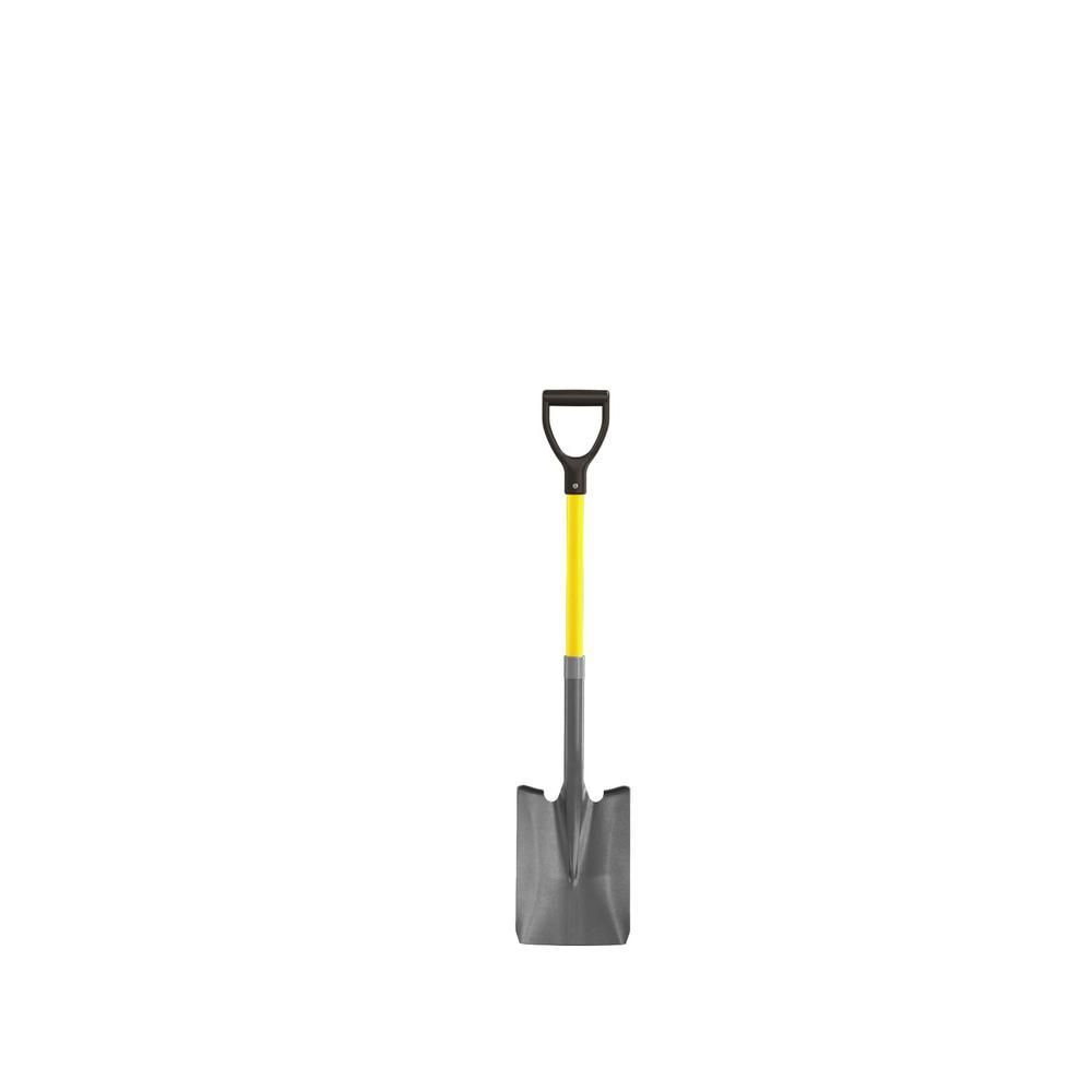 27 in. Fiberglass Handle Closed Back Square Point Shovel