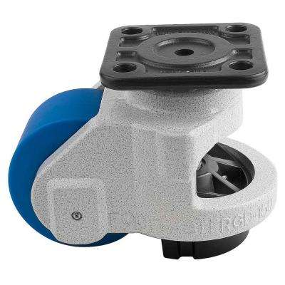 3-1/2 in. MC Nylon Wheel Top Plate Leveling Caster with Load Rating (3300 lbs.)