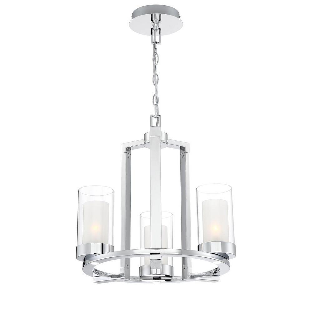 Home Decorators Collection Samantha 33-Watt 3-Light LED Chrome Chandelier