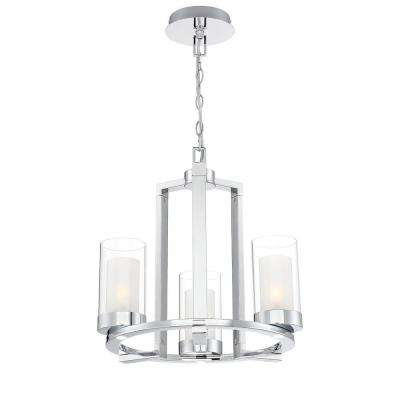 Samantha 33-Watt 3-Light LED Chrome Chandelier
