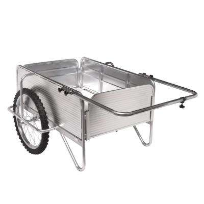 All-Purpose Heavy-Duty Aluminum Yard Cart With Removable Panels