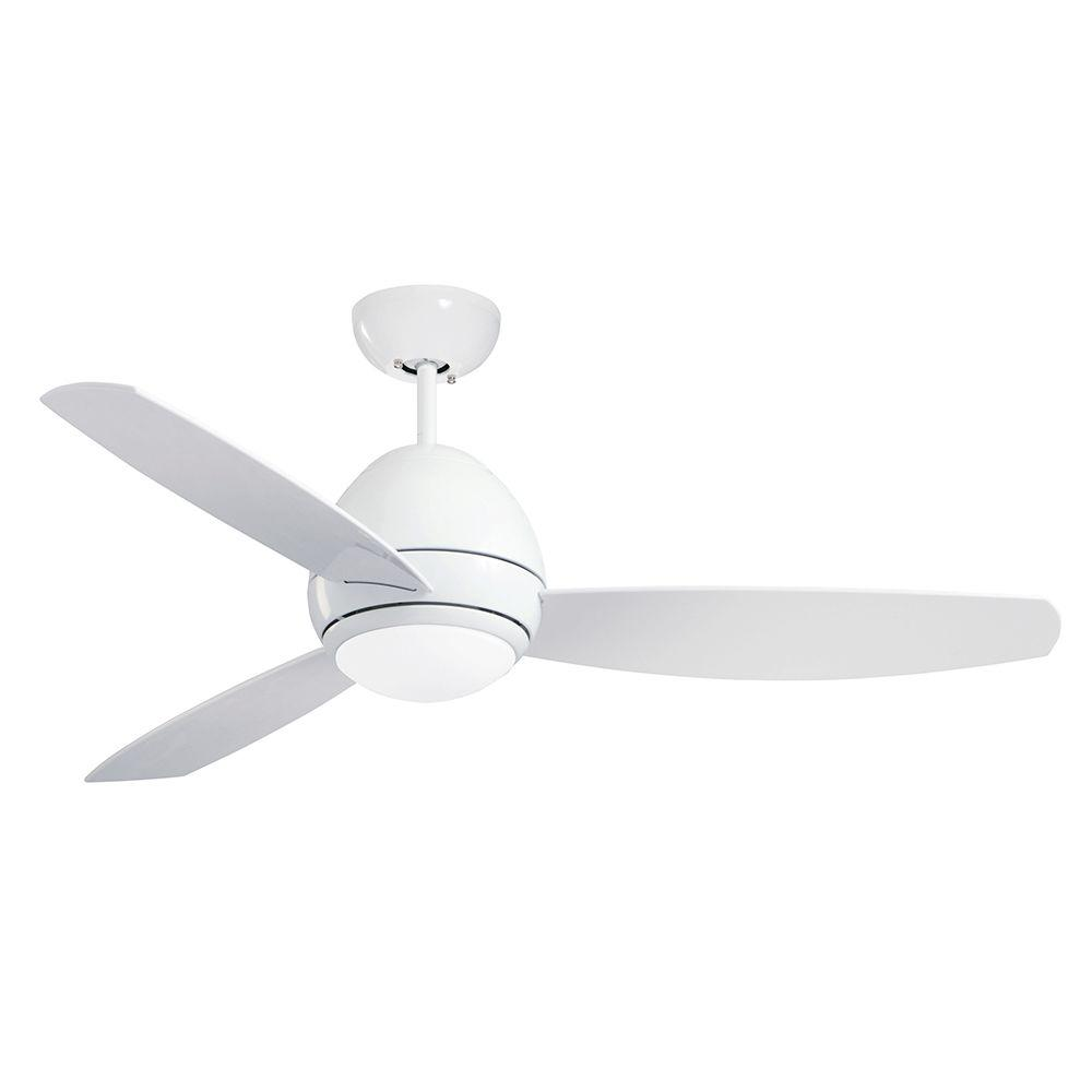 Illumine Zephyr 52 in. Indoor/Outdoor Appliance White Ceiling Fan