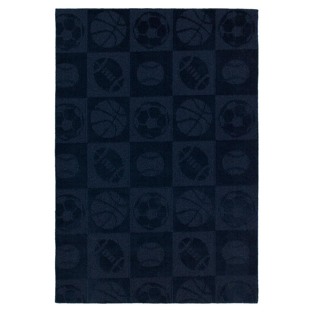 Garland Rug Sports Navy 5 ft. x7 ft. Area Rug-DISCONTINUED