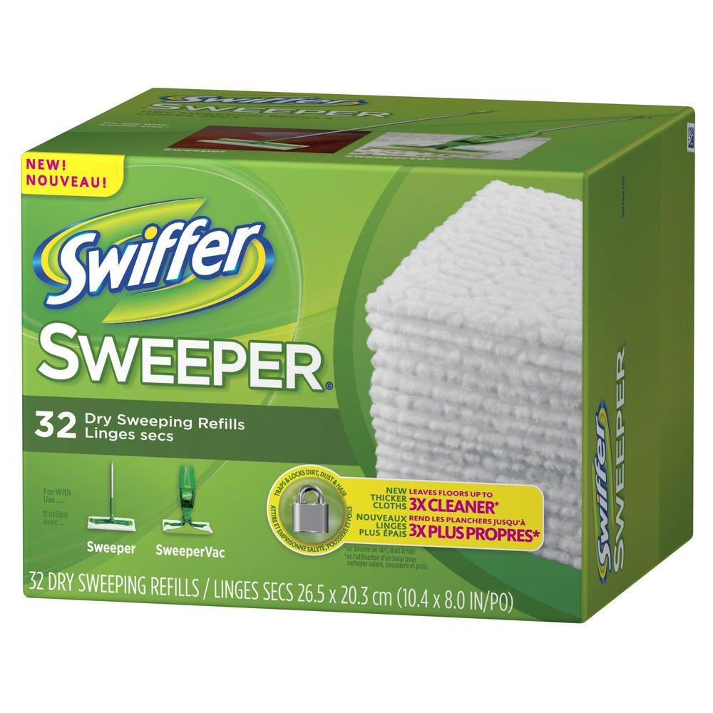 Swiffer Sweeper Dry Cloth Refills 32 Count 003700021457