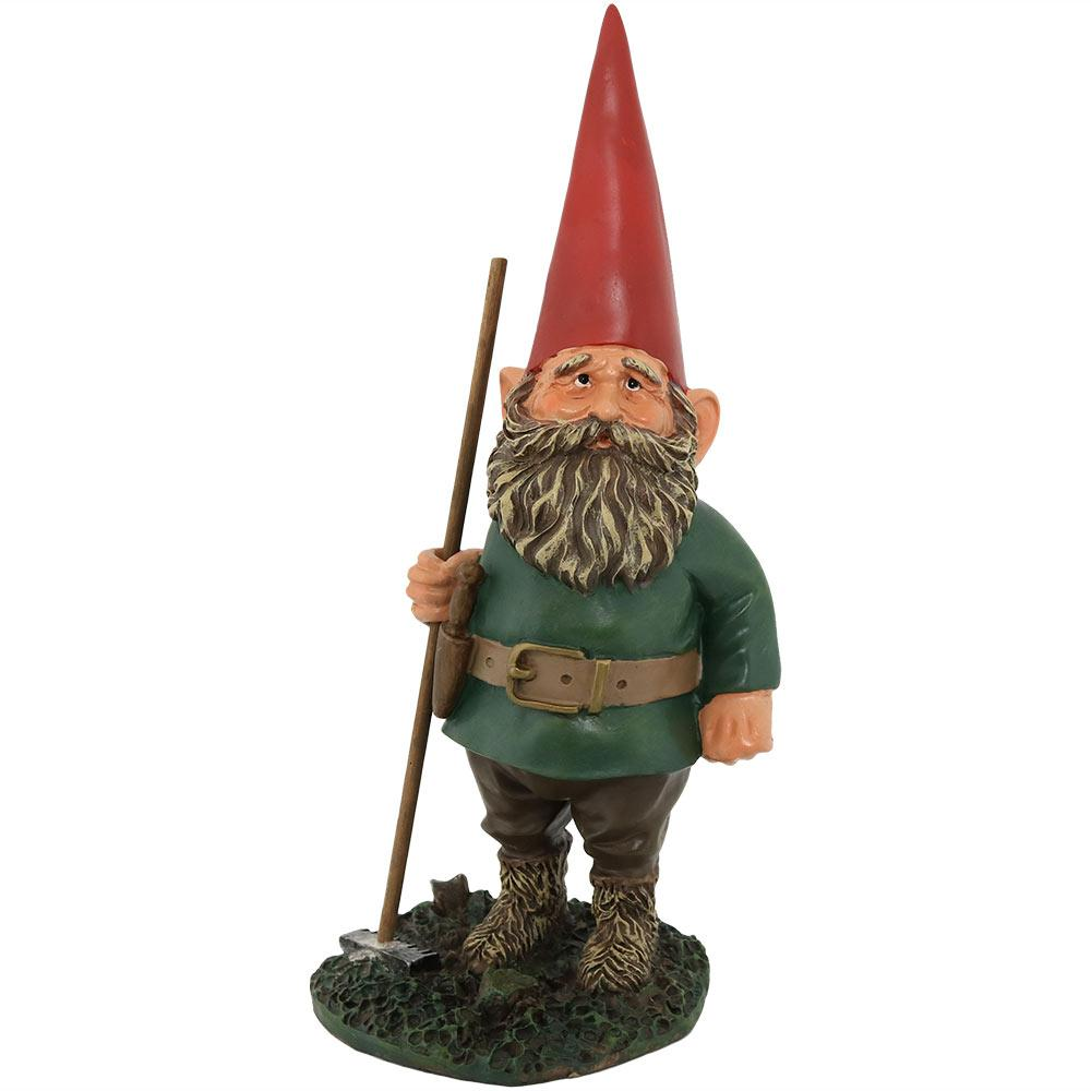 Sunnydaze Decor 13.5 In. Tall Woody Junior The Gnome Garden Statue