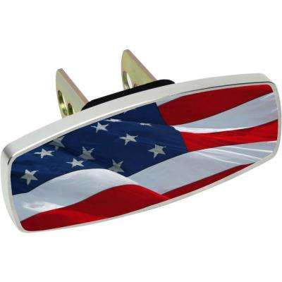 Waving Flag Hitch Cover