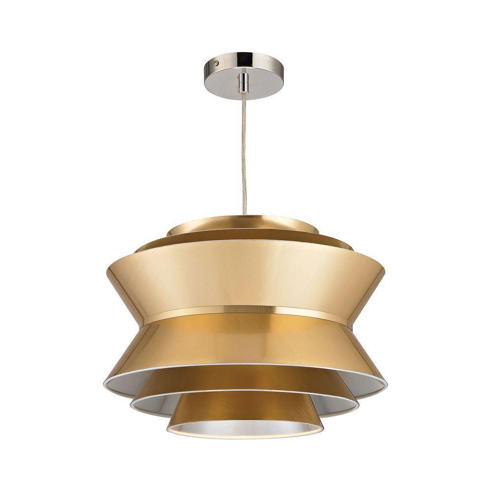 Godnik 1-Light Gold Pendant