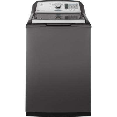 5.0 cu. ft. High-Efficiency Diamond Gray Top Load Washing Machine and Wi-Fi Connected with SmartDispense, ENERGY STAR