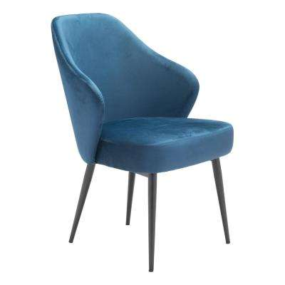 Savon Navy Velvet Dining Chair