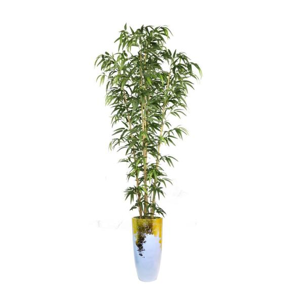 Laura Ashley 93.5 in. Tall Bamboo Tree Faux Decorative in Natural