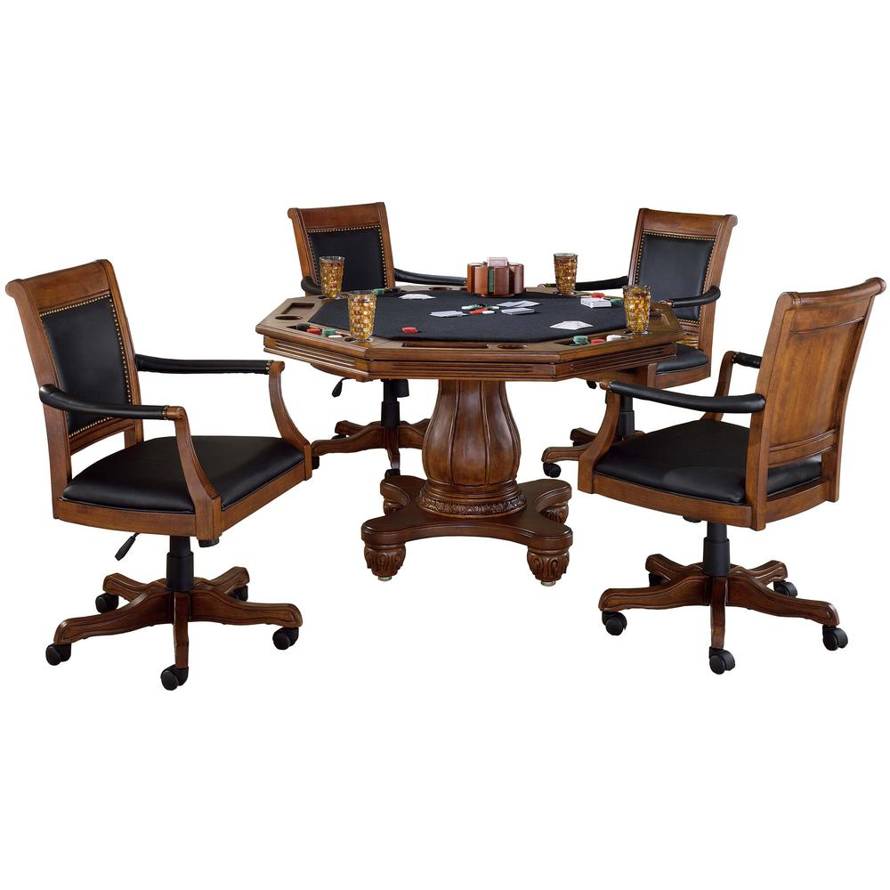 Hillsdale Furniture Kingston Piece Cherry Game Table And Chairs - Conference room table and chairs set