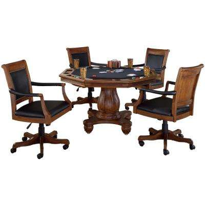 Kingston 5-Piece Cherry Game Table and Chairs Set