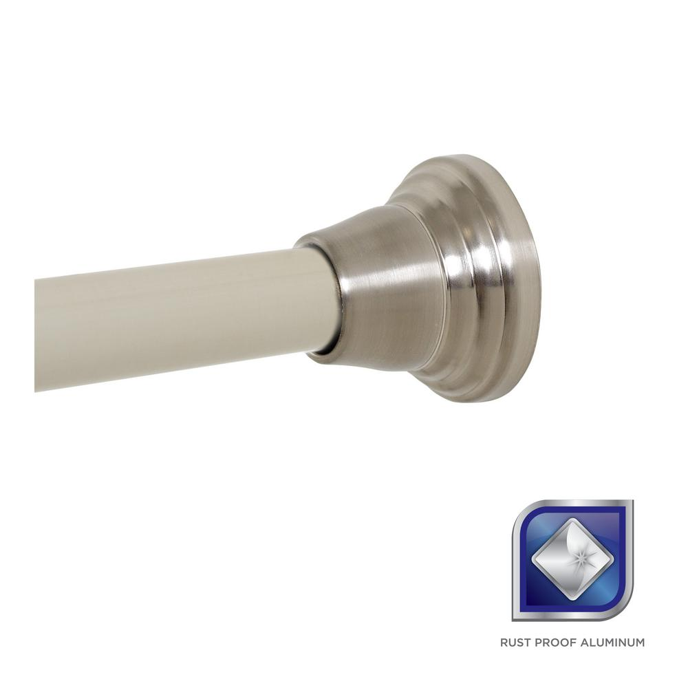 Shower Curtain Rods - Shower Accessories - The Home Depot