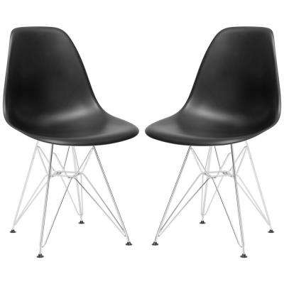 Padget Black Side Chair (Set of 2)