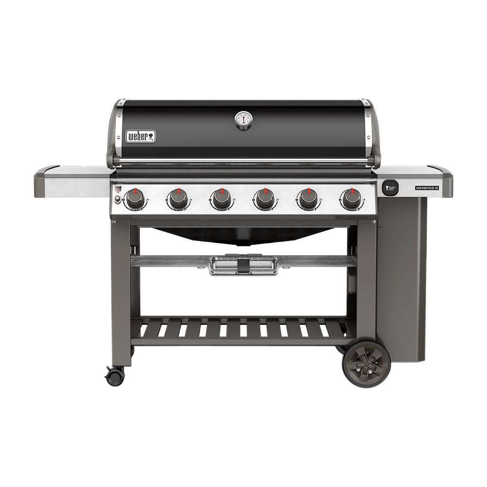 Genesis II E-610 6-Burner Propane Gas Grill in Black with Built-In Thermometer