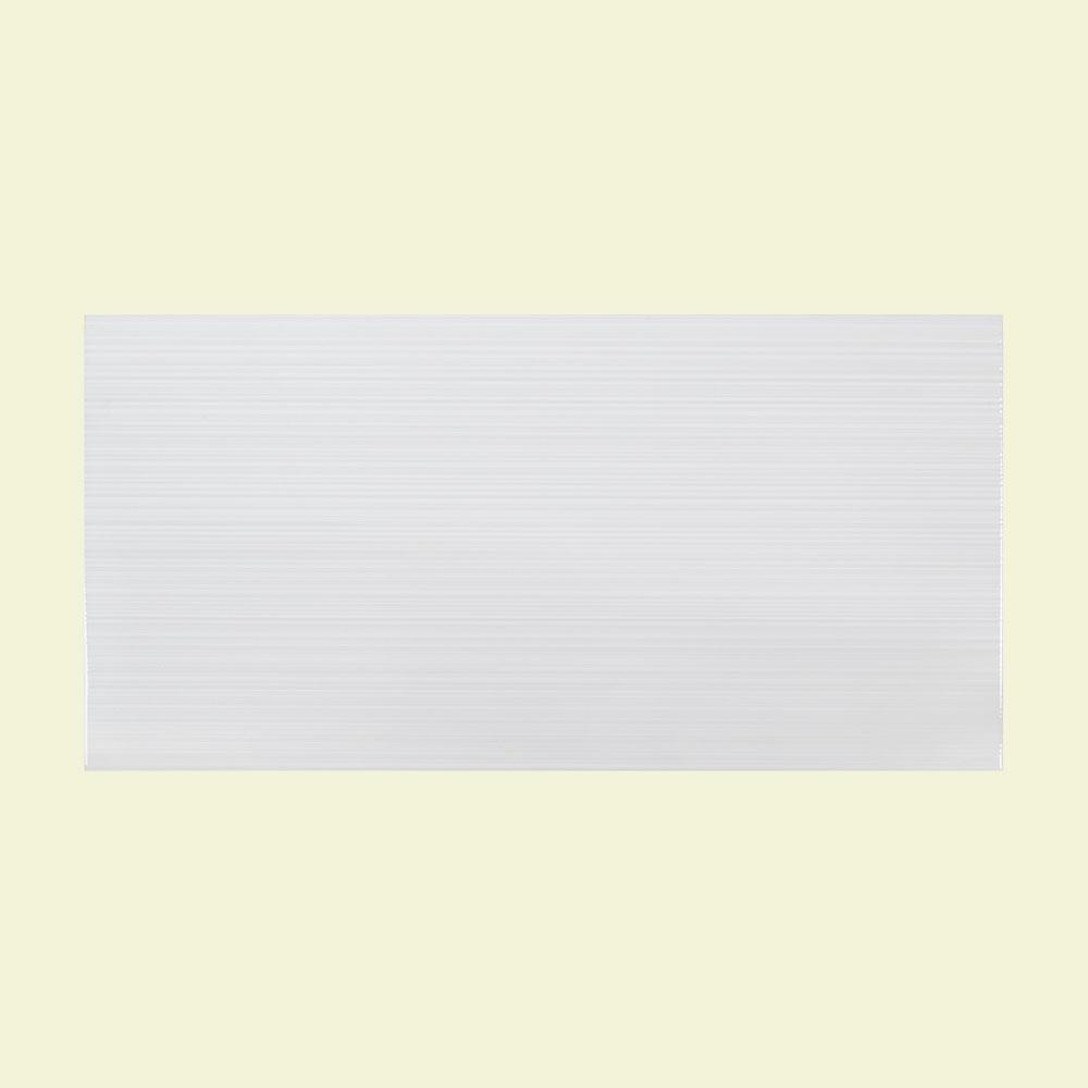 Wisteria White 10 in. x 20 in. Ceramic Wall Tile (10.76