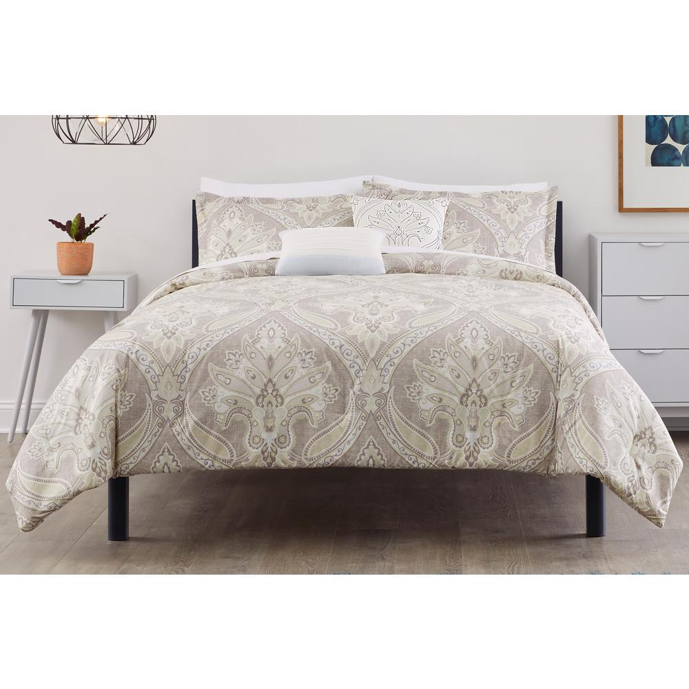 Stylewell StyleWell Adderly 5-Piece Riverbed Medallion Full/Queen Comforter Set