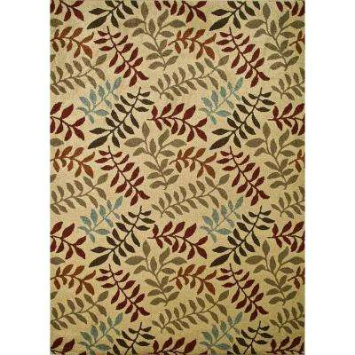 Chester Leafs Ivory 7 ft. x 9 ft. Area Rug