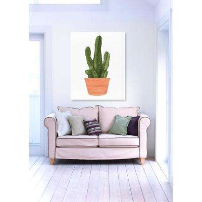 "16 in. x 13 in. W ""Cactus Coral III"" Printed Framed Canvas Wall Art"