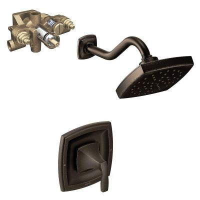 Voss Single-Handle 1-Spray Moentrol Shower Faucet Trim Kit with Valve in Oil Rubbed Bronze (Valve Included)