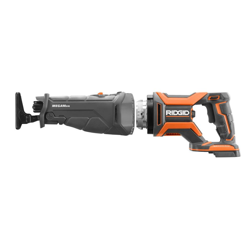 RIDGID 18-Volt OCTANE MEGAMax Brushless Power Base with Reciprocating Saw Attachment