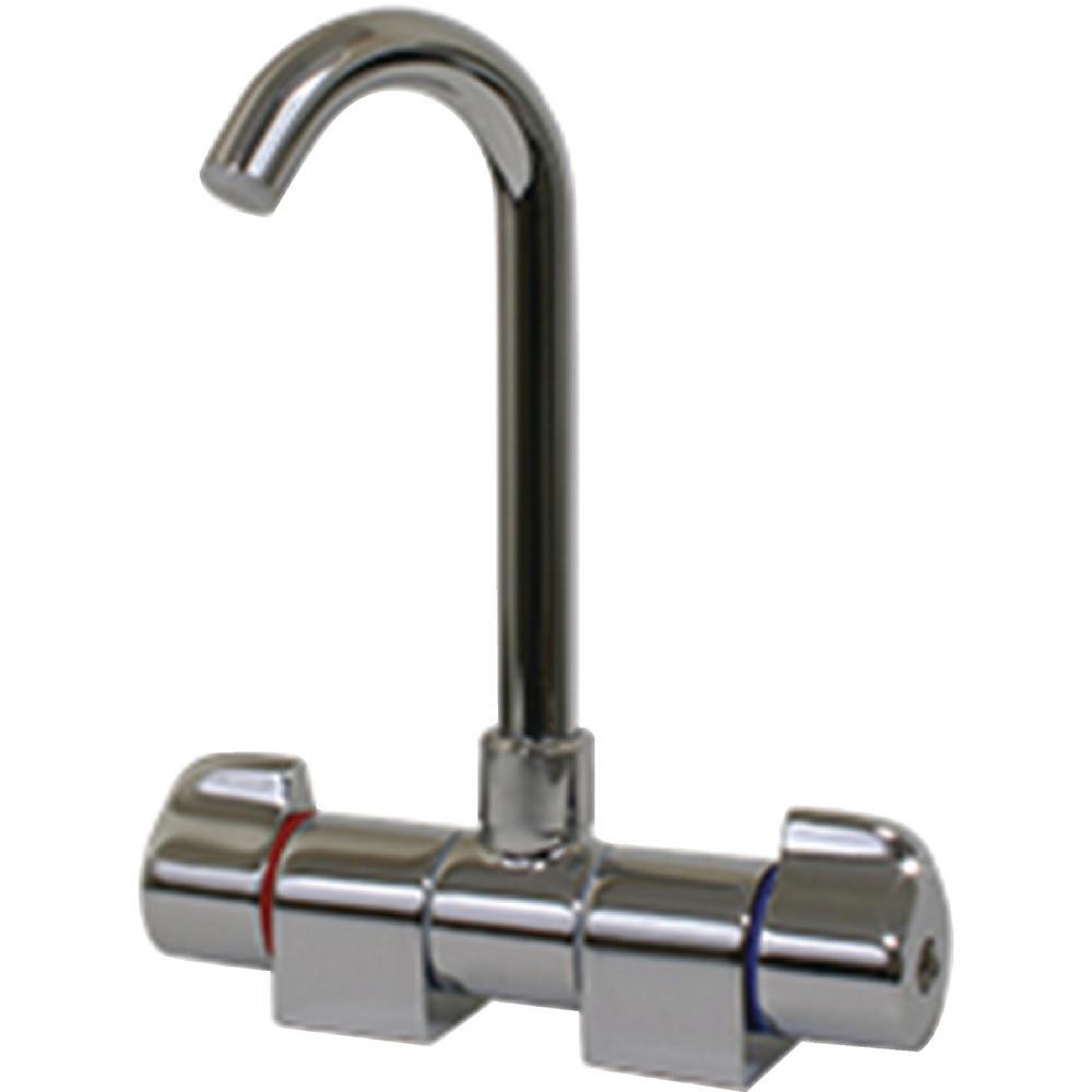 J Spout Folding Mixer Faucet, Chrome Plated Brass-10474P - The Home ...
