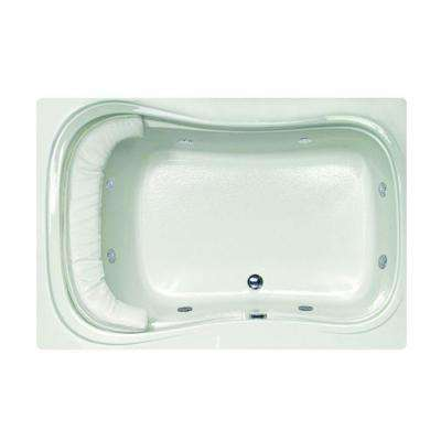 Lancing 5 ft. Reversible Drain Whirlpool and Air Bath Tub in White
