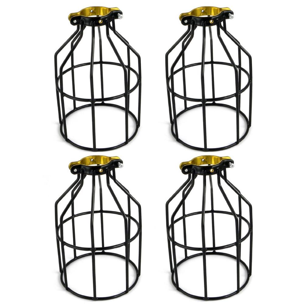 Metal Lamp Guard for String Light and Lampholder (4-Pack)