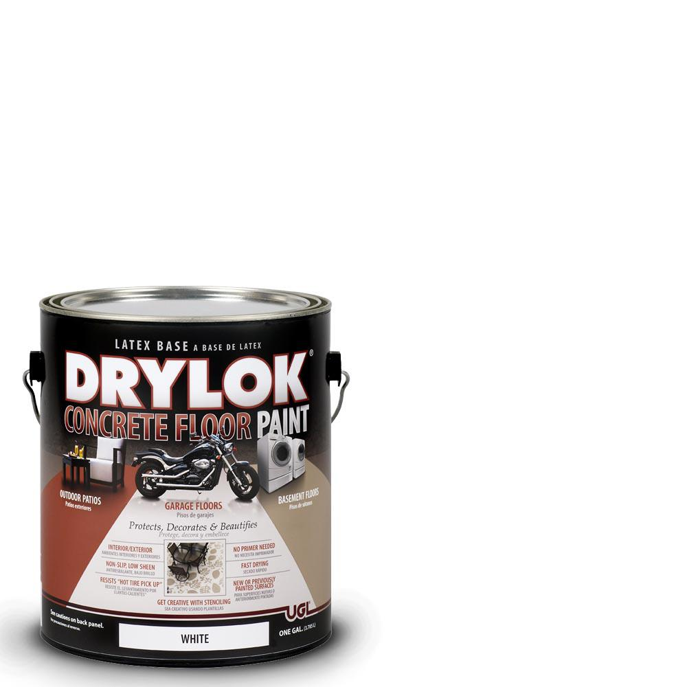 Drylok 1 Gal White Latex Concrete Floor Paint 209153
