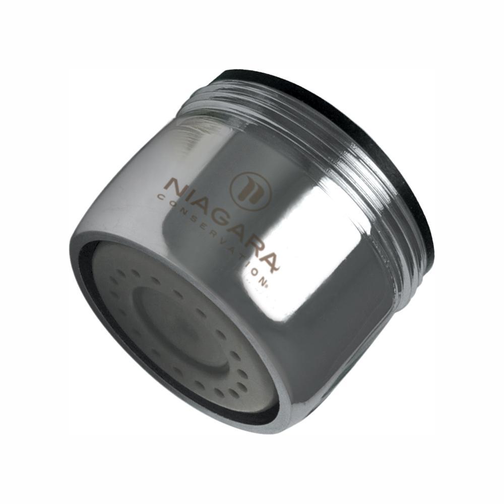 Niagara Conservation Niagara Conservation 1.0 GPM Dual Thread Needle Spray Faucet Aerator (6-Pack), Grey