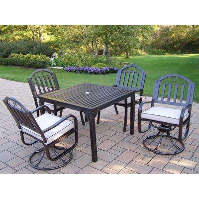 Rochester 5-Piece Swivel Patio Dining Set with Cushions