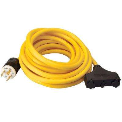 25 ft. 10/3 3-Outlet Tri-Tap Generator Cord