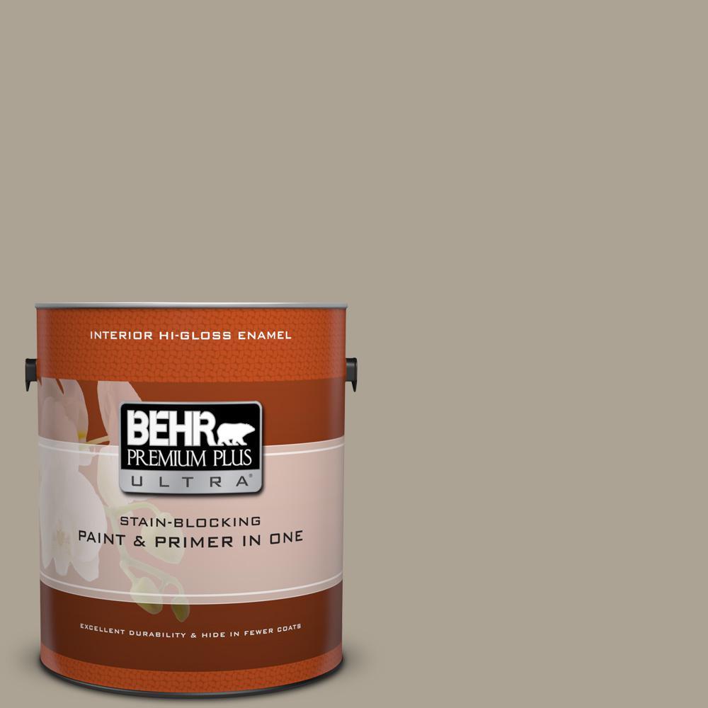 1 gal. #HDC-NT-14 Smoked Tan Hi-Gloss Enamel Interior Paint