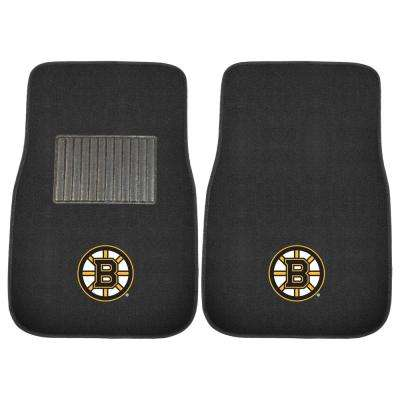 NHL - Boston Bruins Heavy Duty 2-Piece 17 in. x 25.5 in. Nylon Carpet Embroidered Car Mat