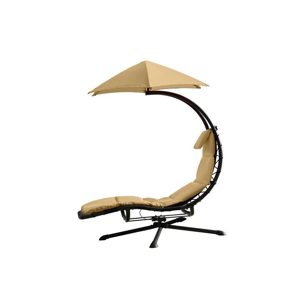 Original Dream 360° Rotating Single Patio Lounge Chair with Sand Dune Cushion