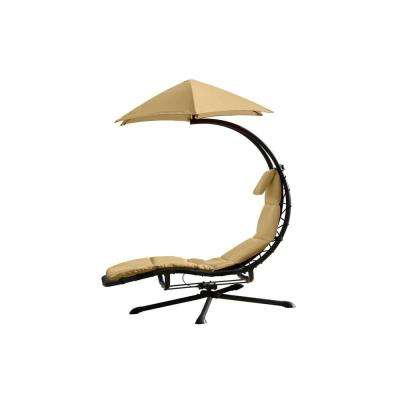 Original Dream 360° Rotating Single Patio Lounge Chair with Sand Dune Cushion