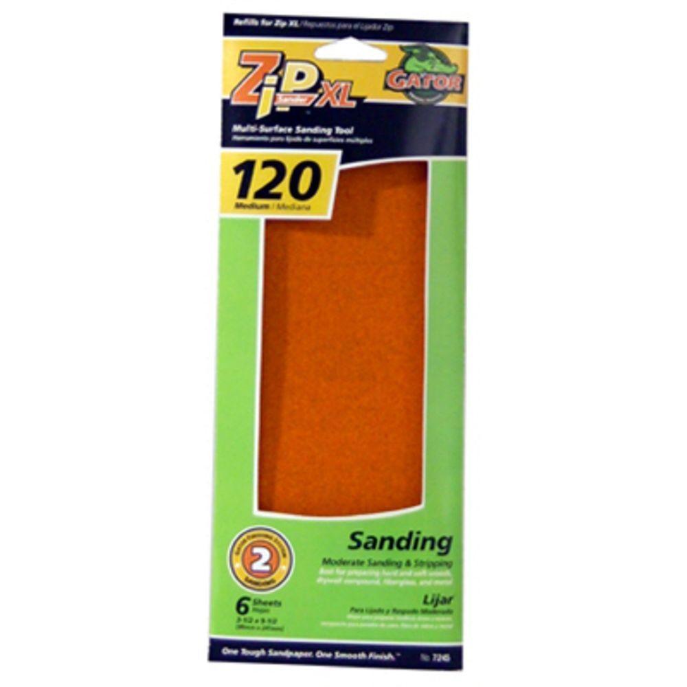 ZipSander Step 2 - 6 Pack Zip XL Refill Sandpaper Sheets-DISCONTINUED