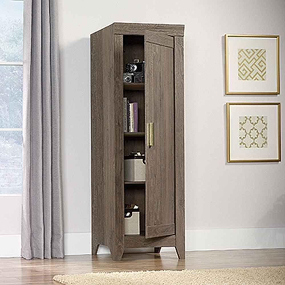 sauder bathroom cabinets sauder adept fossil oak storage cabinet 418138 the home 25856