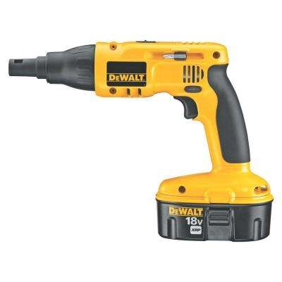 18-Volt XRP NiCd Cordless Drywall/Deck Screwdriver with (2) Batteries 2.4Ah, 1-Hour Charger and Case